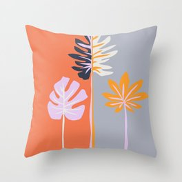 Double-sided leaves Throw Pillow