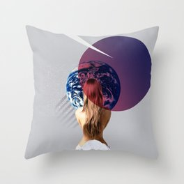 Lady Earth Throw Pillow