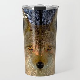 Long Night Coyote Travel Mug