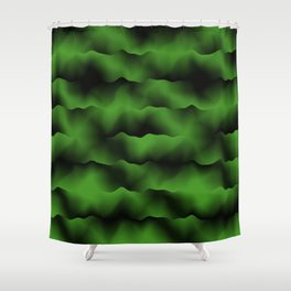 Emerald Green Waves Shower Curtain