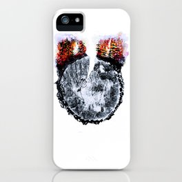 Burning Forest iPhone Case