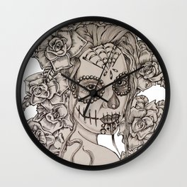Roses of the Dead Wall Clock