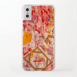 The Red Wall Clear iPhone Case