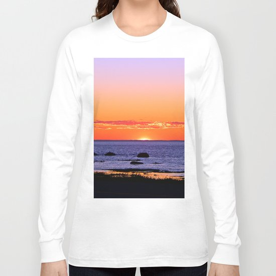 Stunning Seaside Sunset Long Sleeve T-shirt