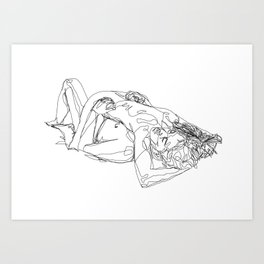 Let's stay like this Art Print