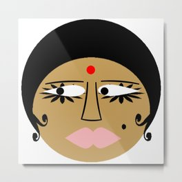 bbnyc: indian girl Metal Print