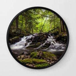 split waterfall Wall Clock