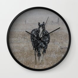 Powder Coated Clydesdale Wall Clock