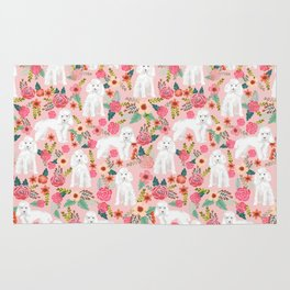 Toy Poodle pattern print by pet friendly pink florals dog with flower pattern cute toy poodles Rug