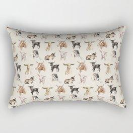 Vintage Goat All-Over Fabric Print Rectangular Pillow