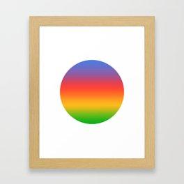 Classic Round Framed Art Print