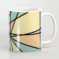 stained glass Mugs featuring Stained Glass by Tammy Kushnir