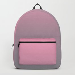 Gradient Blend Pantone 2021 Color of the Year Ultimate Gray 17-5104 And Prism Pink 14-2311 Backpack