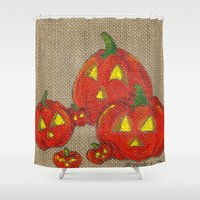 lantern Shower Curtains featuring Lantern Patch by KristenOKeefeArt