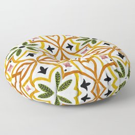 Obsession nature mosaics Floor Pillow
