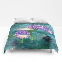 Purple Ruffle Iris Comforters