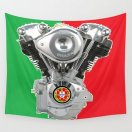 Portuguese Motorcycle Riders Wall Tapestry