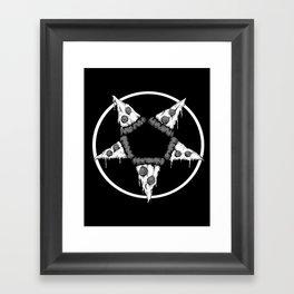 Pizzagram (Monochrome) Framed Art Print