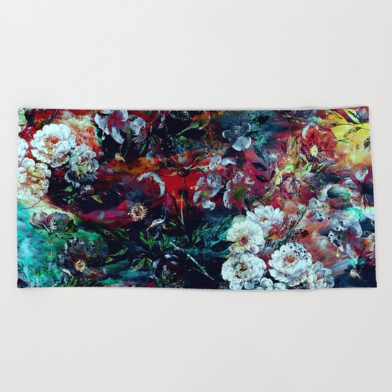 RPE SEAMLESS FLORAL VII Beach Towel
