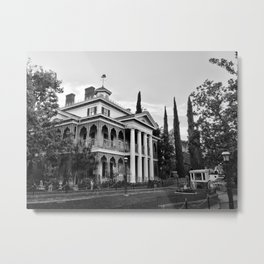 Haunted Victorian Mansion Metal Print