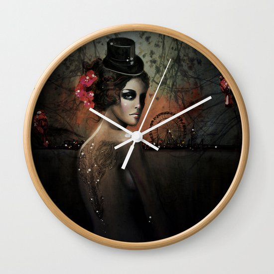 Dawn in Autumn Wall Clock
