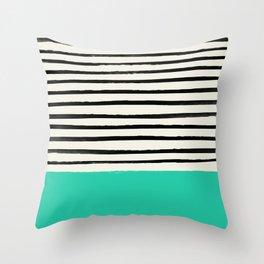 Mint x Stripes Throw Pillow
