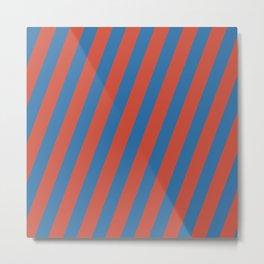 Royal Stripes (Nebulas Blue and Red Pear) Metal Print