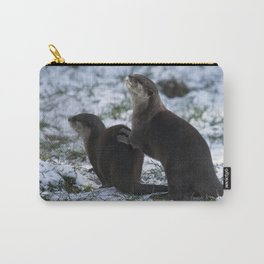 Otters In The Snow Carry-All Pouch