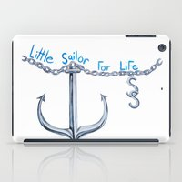 sam smith iPad Cases featuring Sam Little Sailor by Annette Jimerson