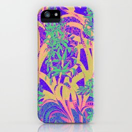 Colorful Floral Tropical pattern iPhone Case