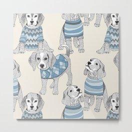 blue beagle Metal Print