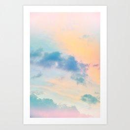 Unicorn Pastel Clouds #6 #decor #art #society6 Art Print