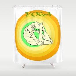Yoga: asana Shower Curtain