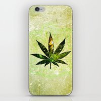 marijuana iPhone & iPod Skins featuring Marijuana Leaf - Design 3 by Spooky Dooky