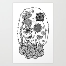 Trapped in my Garden Art Print