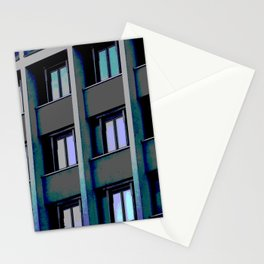 Windows at sunset Stationery Cards
