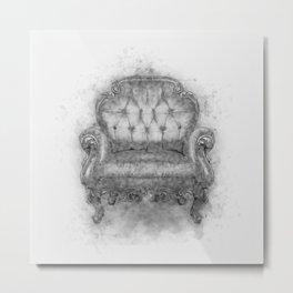 Sit a Bit! Metal Print