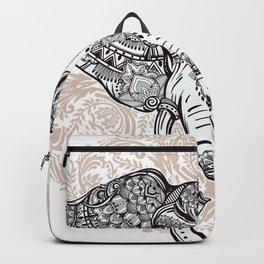 Elephant on Mandala Backpack