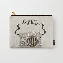 Cute Camera Typography Carry-All Pouch