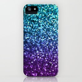 Mosaic Sparkley Texture G198 iPhone Case