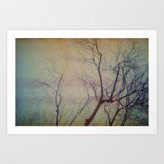 light leaked, tree. Art Print