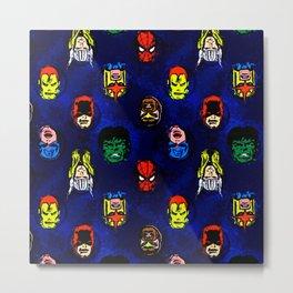 super hero pattern Metal Print