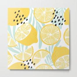 Lemon pattern 02 Metal Print