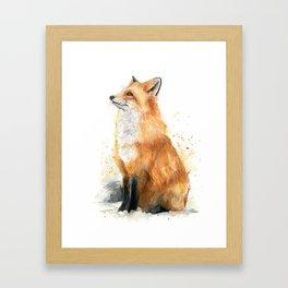 Red Fox Pattern Framed Art Print