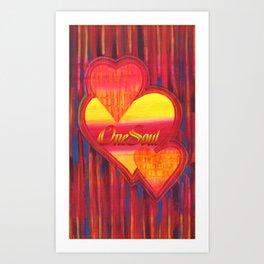 Hearts - One Soul Art Print
