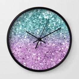 Mermaid Girls Glitter #6 #shiny #decor #art #society6 Wall Clock
