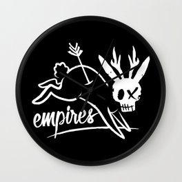 Empires Arrow Jackalope Print Wall Clock