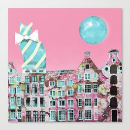 The Cat of Amsterdam Canvas Print