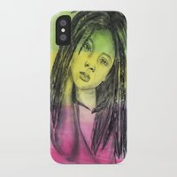 marley iPhone & iPod Cases featuring Marley by Katy Kaydash