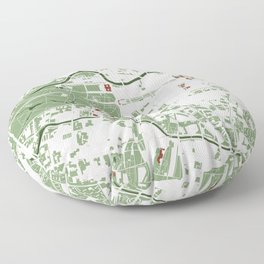 Berlin city map minimal Floor Pillow